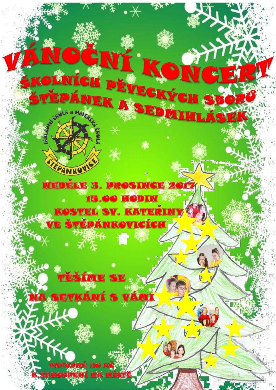 Vánoční koncert školních pěveckých sborů