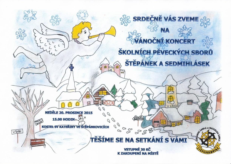 Vánoční koncert školních pěveckých sborů Štěpánek a Sedmihlásek